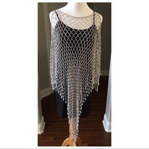 Accessories - Crochet & Beaded Poncho